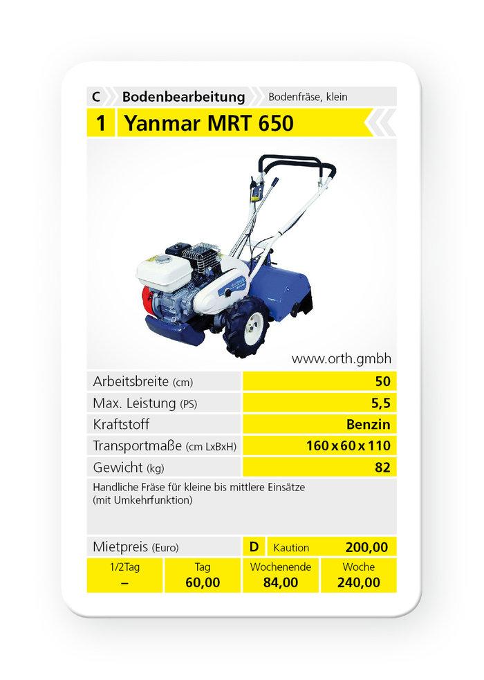 Mieten                                          Bodenfräsen:                     Yanmar - MRT 650 (mieten)
