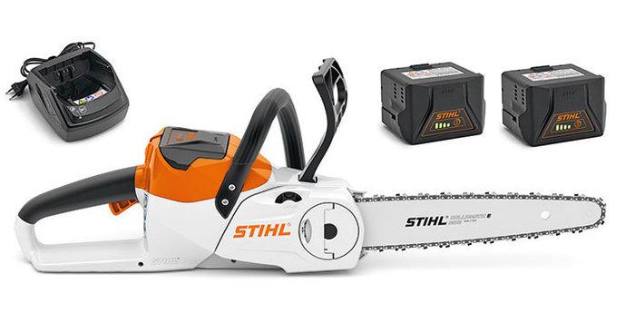 Angebote                                          Akkumotorsägen:                     Stihl - MSA 120 C-BQ mit 2 x  AK 20 und AL 101 (Empfehlung!)