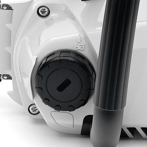 Werkzeugloser Öltankverschluss  Durch den transparenten Öltank und den werkzeuglos bedienbaren Öltankverschluss lässt sich der Ölstand leicht und bequem prüfen.