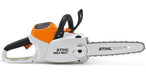 Mieten                                          Akkumotorsägen:                     Stihl - MSA 160 C-BQ (30 cm) mit Akku AP 160 und Ladegerät AL 300 (mieten)