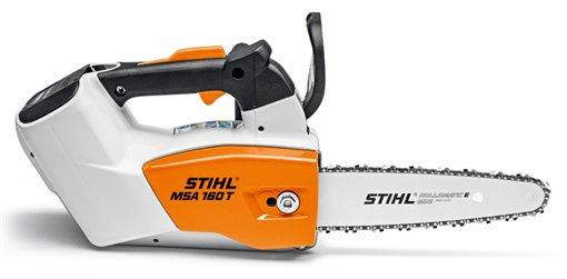 Akkumotorsägen:                     Stihl - MSA 160 T (30 cm) mit AP 115 und Ladegerät AL 300