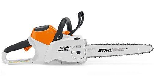 Akkumotorsägen:                     Stihl - MSA 200 C-BQ 35 cm mit AP 300 und AL 300