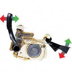 QuickStop Super (Q): Die komfortable Kettenbremse exklusiv von STIHL. Bei QuickStop Super wird die Kettenbremse zusätzlich aktiviert, sobald die Motorsäge am hinteren Handgriff losgelassen wird. Die Kette wird innerhalb kürzester Zeit gestoppt. Arbeiten, bei denen die Motorsäge häufig abgestellt werden muss, können mit QuickStop Super besonders effektiv und komfortabel durchgeführt werden.