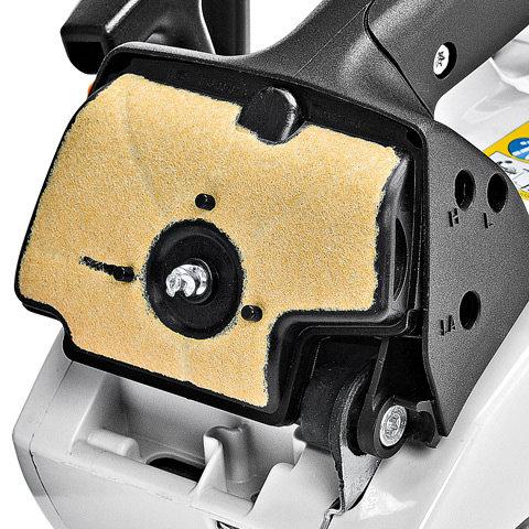 Servicefreundliches Luftfiltersystem  Die Luft ist rein: Dank werkzeuglos zu bedienendem Vergaserkastendeckel können Sie den Luftfilter mit nur einem Handgriff reinigen.