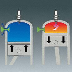 Kombihebel  Da M-Tronic Kalt- und Warmstart elektronisch erkennt, ist nur noch eine Startposition am Kombihebel nötig. Die exakte Kraftstoffmenge wird zugeführt. Sie müssen nichts über den Betriebszustand Ihrer Motorsäge wissen und können sofort Vollgas geben – auch beim Kaltstart. Denn die Motorsäge ist durch optimale Beschleunigung in wenigen Sekunden warmgelaufen.