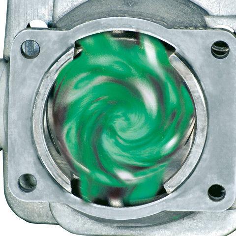 HD2-Filter  Der neu entwickelte HD2-Filter aus Polyethylen-Filtermaterial hat um bis zu 70% feinere Poren als Vlies- und Polyamidfilter und filtert dadurch selbst feinsten Staub. Er ist darüber hinaus öl- und wasserabweisend und dadurch sehr leicht zu reinigen. Die PET- bestückte Filterpratone ist werkzeuglos auszutauschen. (Abb. ähnlich)