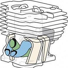 STIHL Vier-Kanal-Technik: Vier Überströmkanäle verwirbeln das Kraftstoff-Luft-Gemisch vor der Zündung. So wird der Kraftstoff optimal verbrannt und der Wirkungsgrad des Motors deutlich erhöht.