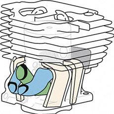 STIHL Vier-Kanal-Technik: Vier Überströmkanäle verwirbeln das Kraftstoff-Luft-Gemisch vor der Zündung. So wird der Kraftstoff optimal verbrannt und der Wirkungsgrad des Motors deutlich erhöht. Das Ergebnis: weniger Verbrauch und ein hohes Drehmoment über einen weiten Drehzahlbereich.