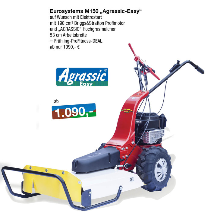 Gebrauchte                                          Wiesenmäher:                     Eurosystems - M 150 RG - Agrassic-Hochgrasmulcher (gebraucht)