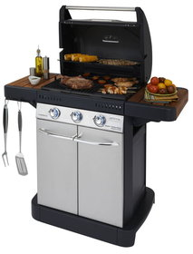 Gas-Grillstationen: Campingaz - Master 3 Series Woody Gasgrill