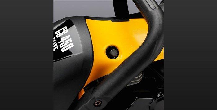 Dekompressionsventil Das Dekompressionsventil erleichtert den Startvorgang um 50%, indem der Druck im Zylinder während des Startens reduziert wird