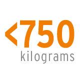 <750 Kilogramm  Trotz seiner beeindruckenden Häckselkapazität bleibt der Mega Prof ein Leichtgewicht. Das Gesamtgewicht bleibt unter 750 kg, sodass ein normaler B-Führerschein ausreicht, um den Häcksler im öffentlichen Verkehr zu transportieren. Das Gewicht ist ausgewogen verteilt, so kann die Maschine sehr einfach manuell verschoben werden.