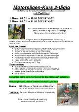 Lehrgänge: Motorsägenkurs Müller-Schwaibach - Motorsägen-Kurs 2-tägig