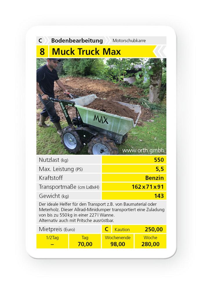 Mieten                                          Allzwecktransporter:                     Muck Truck - Muck Truck Max (mieten)