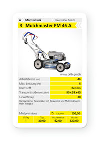 Mieten Mulchrasenmäher: Mulchmaster - PM 46 A (mieten)