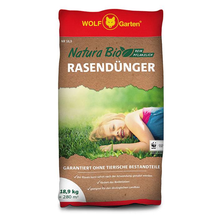 Rasendünger:                     Wolf-Garten - NR 18,9 NATURA BIO RASENDÜNGER
