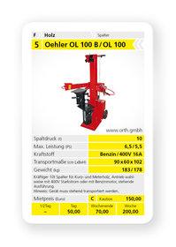 Mieten  Holzspalter: Oehler - OL 100 B / OL 100 (mieten)