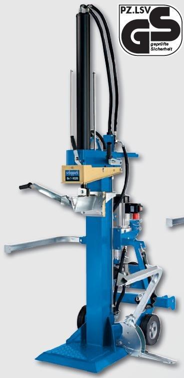 Holzspalter:                     Scheppach - Ox 7-1020 (400V, 5,2 kW + GW-Antrieb)