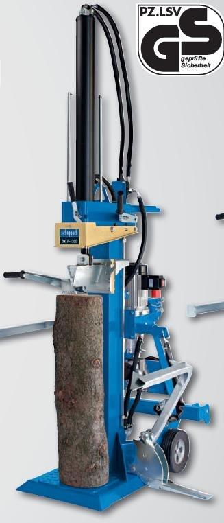 Holzspalter:                     Scheppach - Ox 7-1320 (400V, 5,2 kW + GW-Antrieb)