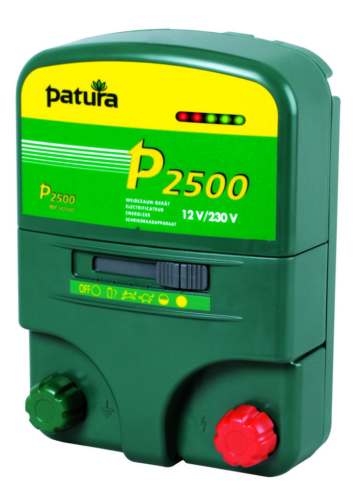 Akkugeräte:                     Patura - P2500 Weidezaungerät 12V + 230V