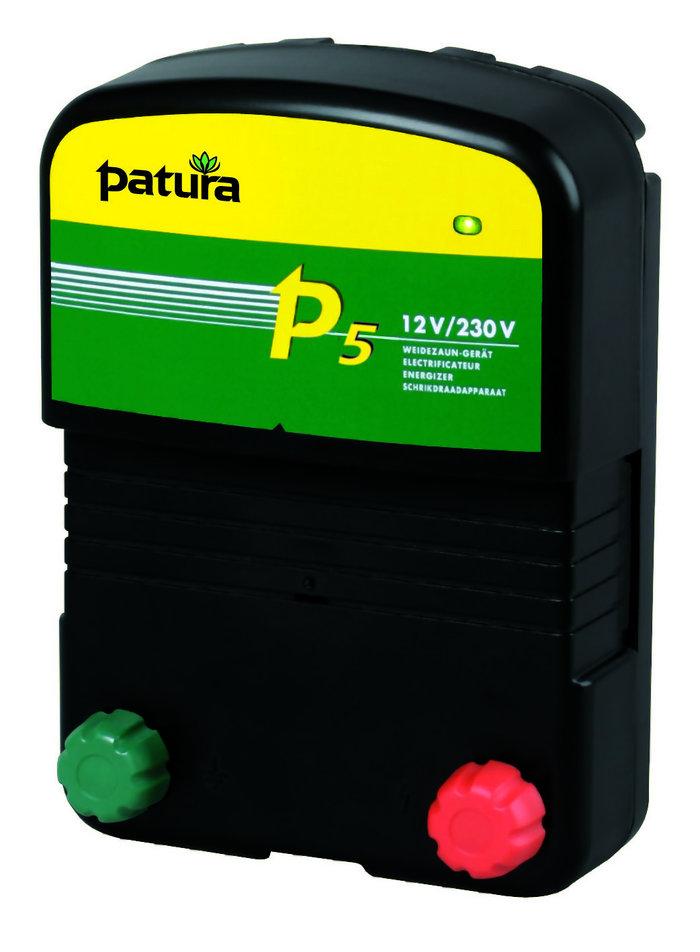 Akkugeräte:                     Patura - P5 Weidezaungerät 12V + 230V