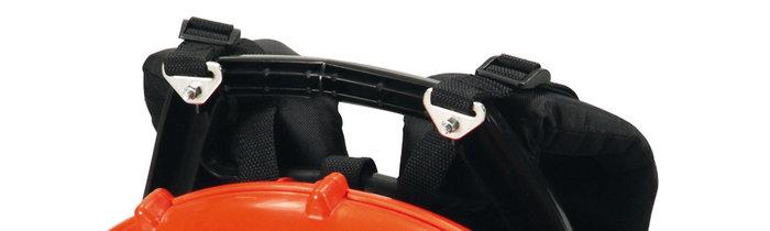 mehr Tragekomfort -  Die rückentragbaren ECHO-Powerbläser sind durch ergonomische Rückenpolster bequem zu tragen. Besonders bei mehrstündigen Einsätzen der Kraftbläser ist diese Vibrationsdämpfung und Stressreduzierung entscheidend für die Arbeitsproduktivität.