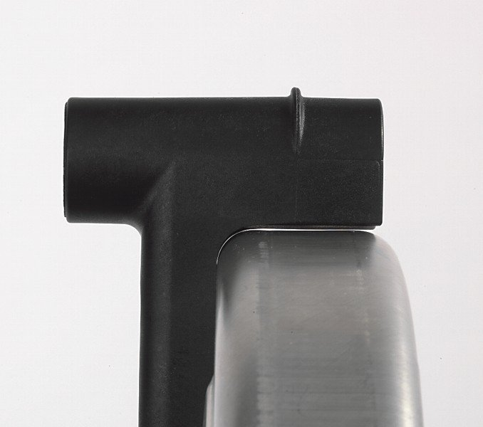 Schutzhauben- und Peilhilfenverstellung mittels Handgriff