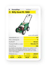 Mieten Aerifizierer: Billy Goat - PL 1800 (mieten)