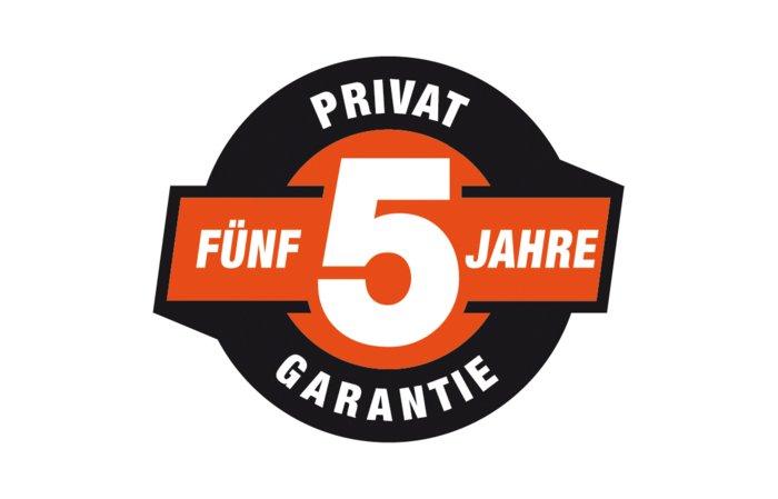 5 Jahre Garantie -  Auf diese Geräte gibt der Hersteller fünf Jahre Garantie. Bei gewerblicher Nutzung kann die Garantiezeit auf max. zwei Jahre verlängert werden.