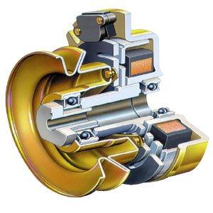 Die elektromagnetische Kupplung ist der schnellste und sicherste Weg die kraftvollen Messer zu stoppen.