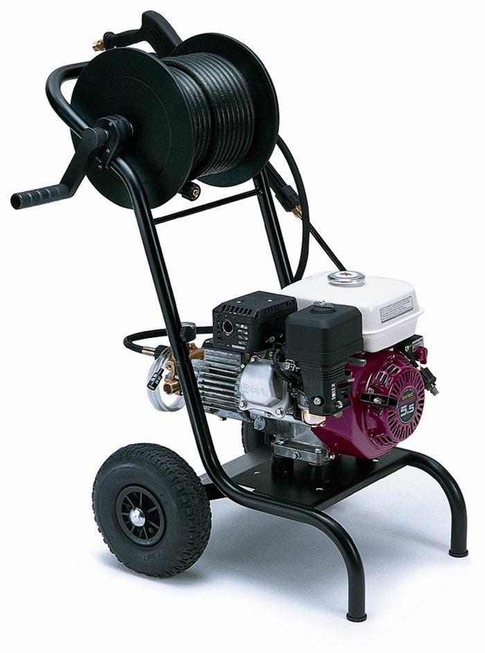 Kaltwasser-Hochdruckreiniger:                     Kränzle - Profi-Jet B 16/220 mit Edelstahlfahrgestell, Drehzahlregulierung, Schlauchtrommel