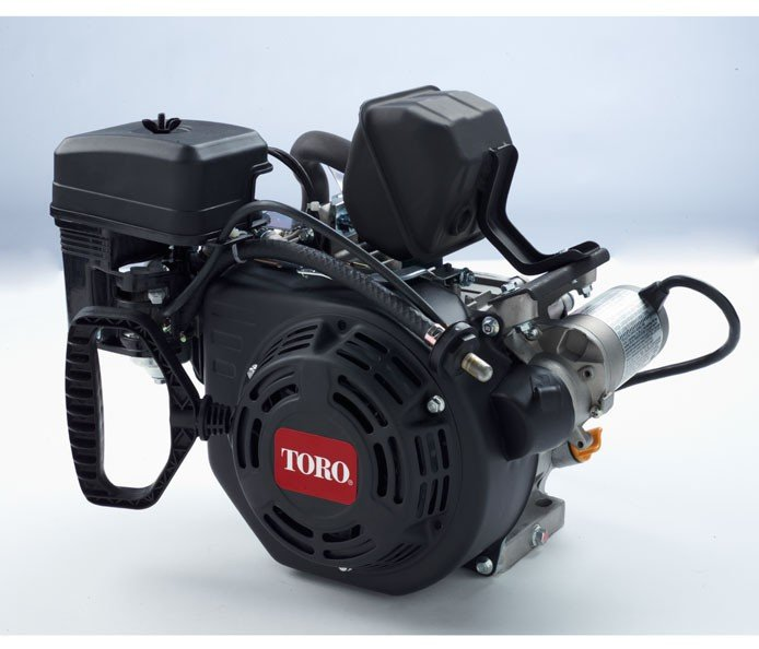 Toro Premium Viertakt-OHV-Motor, 163 cc: Die geräuscharmen Toro Premium Viertakt-OHV-Motoren sind zuverlässig und leistungsstark. Diese Motoren wurde genau auf die Maschinen eingestellt, die sie antreiben, und bieten optimale Leistung. Diese Motoren liefern mit unübertroffener Drehzahlreglerreaktion die gewünschte Leistung schnell.