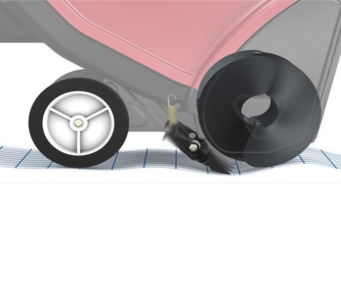 Power Propel® Antriebsanlage: Ein Schieben ist überflüssig, da die Toro Power Propel™ Anlage dies übernimmt. Robuste Schaufeln haben ständigen Bodenkontakt und bewegen die Maschine vorwärts, wenn der Rotor aktiviert ist, und räumen gleichzeitig den Schnee bis auf den Gehsteig.
