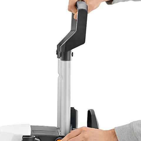 Aluminium-Teleskopgriff  Durch den hochwertigen und ausfahrbaren Teleskopgriff an der hinteren Geräteseite können die STIHL Hochdruckreiniger komfortabel transportiert und platzsparend verstaut werden.