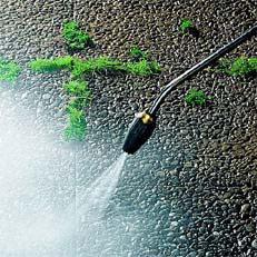 Rotordüse : Die Rotordüse sorgt für geballte Reinigungskraft mit hoher Flächenleistung. Sie versetzt einen kraftvollen Punktstrahl in schnelle Wirbelbewegung. (Abb. ähnlich).