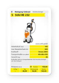 Mieten  Kaltwasser-Hochdruckreiniger: Stihl - RE 232 (mieten)