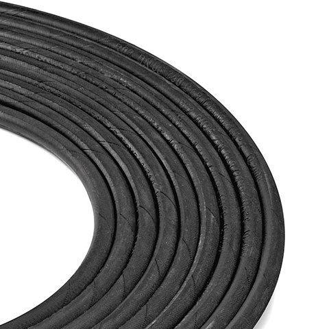 Stahlarmierter Hochdruckschlauch  Der mit Stahlgewebe verstärkte Hochdruckschlauch ist sehr robust und auch für den Einsatz unter härtesten Bedingungen ideal.