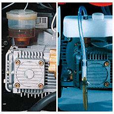 Ölsystem mit Ausgleichsbehälter: Das neue Ölsystem vermeidet zuverlässig Überdruck und somit Ölverlust an der Pumpe. Das reduziert den Verschleiß wichtiger Teile und sorgt für eine längere Lebensdauer des Gerätes (Abb. ähnlich).