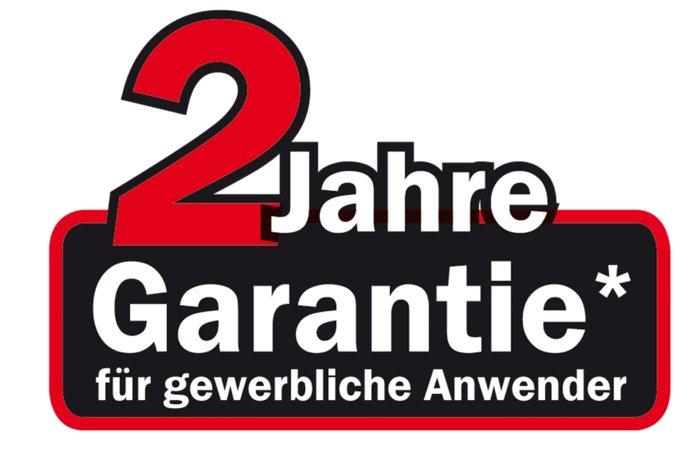 2 Jahre Garantie -  Auf diese Geräte gibt der Hersteller zwei Jahre Garantie bei gewerblicher Nutzer. Bei privater Nutzung kann die Garantiezeit auf fünf Jahre verlängert werden.