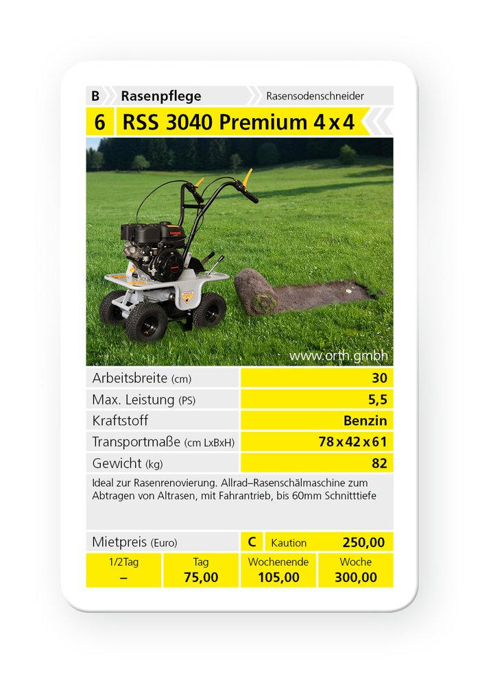 Mieten                                          Sodenschneider:                     Kommtek - RSS 3040 Premium 4x4 (mieten)