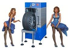 Wartung: Vergölst - Räderreinigung mit professioneller Radwaschmaschine