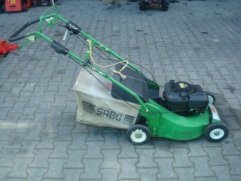 Gebrauchte                                          Benzinrasenmäher:                     Sabo - Rasenmäher 52 OHV-Vario (gebraucht)