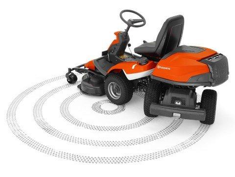 Unsere innovative Knicklenkung erhöht durch verbesserte Manövrierbarkeit die Freude am Fahren. Die beiden Hinterräder können komplett unter den Hinterwagen schwenken und ermöglichen so einen minimalen Wendekreis.