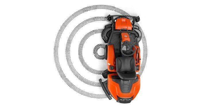 Frontmäher:                     Husqvarna - Rider - R 320 AWD (inkl. 112 cm Mähdeck)