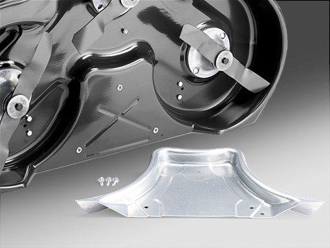 Optionales Kombimähdeck  Der Rider wird ohne Deck geliefert und kann mit dem 94 oder 103 cm Kombi-Mähdeck mit effizientem BioClip®-System und Heckauswurf ausgestattet werden.