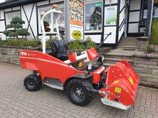 kommunale Gartentraktoren: Del Morino - Rino Akku-Geräteträger Mehrzweck-Traktor Akku-Frontmäher