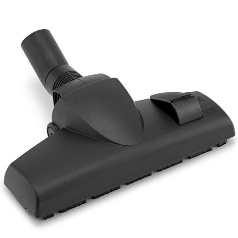 Kombi-Bodendüse  Die Kombi-Bodendüse mit Trittumschaltung liefert optimale Saugleistung sowohl auf glatten Flächen wie auch auf Teppichböden.