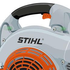 STIHL Antivibrationssystem  Das vorhandene AV-System reduziert die Vibrationen auf ein Mindestmaß und gewährleistet damit auch bei längeren Einsätzen viel Arbeitskomfort. (Abb. ähnlich)