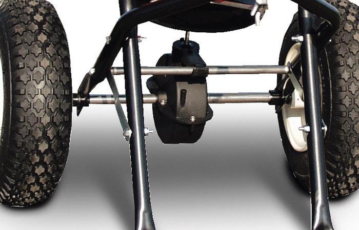 Antriebseinheit aus Edelstahl -  Die Achse der Antriebseinheit und die Zahnräder im Getriebe sind aus rostfreiem Edelstahl. Eine lange Lebensdauer des Gerätes ist somit garantiert.