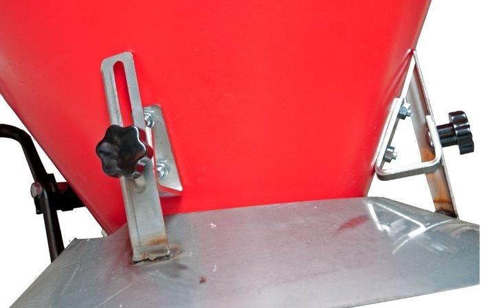 Durch den einstellbaren Seitenbegrenzer lässt sich die Streuweite von 1 - 4 m bequem regulieren.